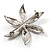 AB Crystal Flower Brooch - view 6