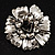 Vintage Dimensional Floral Brooch (Antique Silver Tone)