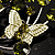 Fancy Butterfly And Flower Brooch (Olive Green) - view 5