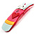 Funky 'Mr Wiggly' Multicoloured Plastic Brooch - view 4