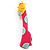 Tall Pink Plastic Giraffe Brooch - view 1