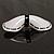 White & Black Plastic Bow Brooch - view 5