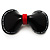 Black & Red Plastic Bow Brooch