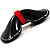 Black & Red Plastic Bow Brooch - view 3