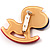 Rocking Horse Plastic Crystal Brooch (Sandy,Beige& Pink) - view 4