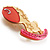 Rocking Horse Plastic Crystal Brooch (Sandy,Pale&Deep Pink) - view 3