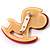 Rocking Horse Plastic Crystal Brooch (Sandy,Pale&Deep Pink) - view 4