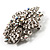 Victorian Corsage Flower Brooch (Silver & Clear Crystals) - view 4