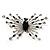 Art Deco Crystal Butterfly Brooch (Silver Tone)
