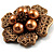 6-Petal Imitation Pearl Floral Brooch (Copper&Gold Brown) - view 3