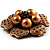 6-Petal Imitation Pearl Floral Brooch (Copper&Gold Brown) - view 4