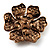 6-Petal Imitation Pearl Floral Brooch (Copper&Gold Brown) - view 5