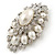 Oversized Vintage Corsage Faux Pearl Brooch (Light Cream) - view 7