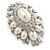 Oversized Vintage Corsage Faux Pearl Brooch (Light Cream) - view 8