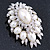 Oversized Vintage Corsage Faux Pearl Brooch (Light Cream) - view 11