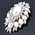 Oversized Vintage Corsage Faux Pearl Brooch (Light Cream) - view 13