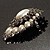 Oversized Vintage Corsage Faux Pearl Brooch (Light Cream) - view 5
