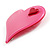 Pink Plastic 'Heart in Heart' Brooch - view 2