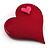 Burgundy Plastic 'Heart in Heart' Brooch - view 3