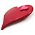 Burgundy Plastic 'Heart in Heart' Brooch - view 4