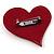 Burgundy Plastic 'Heart in Heart' Brooch - view 5