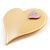 Yellow Plastic 'Heart in Heart' Brooch - view 2