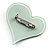 Pale Green Plastic 'Heart in Heart' Brooch - view 3