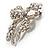 Stunning Swarovski Crystal Bow Brooch (Silver Tone) - view 6