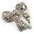 Stunning Swarovski Crystal Bow Brooch (Silver Tone) - view 7