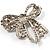Stunning Swarovski Crystal Bow Brooch (Silver Tone) - view 5