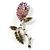 Vintage Crystal Rose Brooch (SilverTone) - view 4