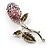Vintage Crystal Rose Brooch (SilverTone) - view 2