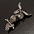 Charming Marcasite Crystal Owl Brooch - view 10
