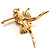'Dancing Ballerina' Fashion Brooch (Gold Tone) - view 7
