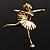 'Dancing Ballerina' Fashion Brooch (Gold Tone) - view 2