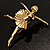 'Dancing Ballerina' Fashion Brooch (Gold Tone) - view 4