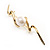 Gold Tone Fancy Imitation Pearl Brooch