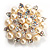 Stunning Wedding Imitation Pearl AB Crystal Corsage Brooch (Silver Tone) - view 8