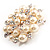 Stunning Wedding Imitation Pearl AB Crystal Corsage Brooch (Silver Tone) - view 9