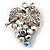 AB Crystal Bunch Of Grapes Brooch