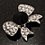 Smart Crystal Bow Brooch (Silver,Clear&Black) - view 6