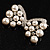 Imitation Pearl Diamante Bow Brooch (Silver Tone) - view 5