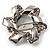 Twirl Crystal Scarf Pin/ Brooch (Silver Tone)