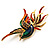 Exotic Multicoloured Flying Fire-Bird Brooch - view 3