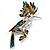 Oversized Exotic Multicoloured Crystal Bird Brooch