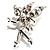 Magical Fairy With Clear Crystal Wings Brooch (Silver Tone) - view 6