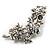 Swarovski Crystal Floral Brooch (Silver Tone) - view 4