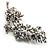 Swarovski Crystal Floral Brooch (Silver Tone) - view 2