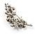 Swarovski Crystal Floral Brooch (Silver Tone) - view 6