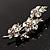 Swarovski Crystal Floral Brooch (Silver Tone) - view 5